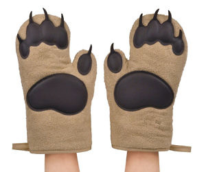 Bear Claw Oven Mitts