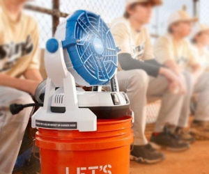 Portable Bucket Top Misting Fan