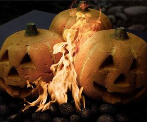 Fire Pit Jack-O-Lantern Pumpkins