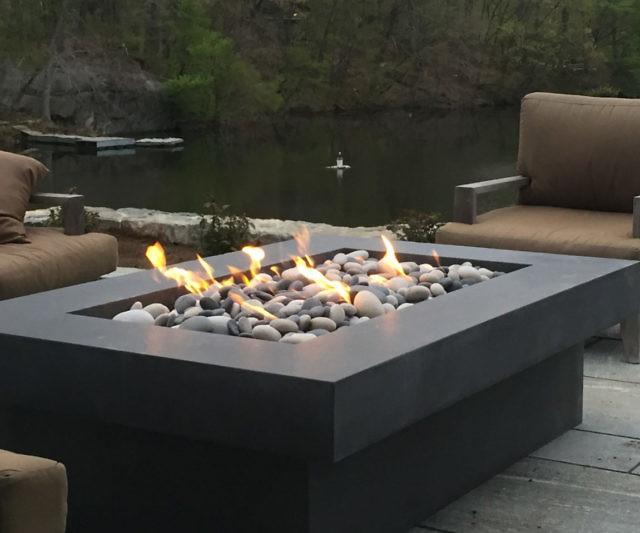 Olson Concrete Fire Pit Table