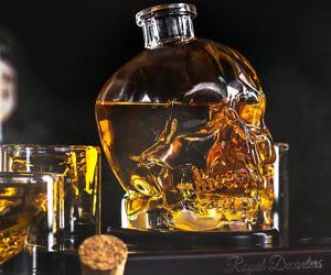 Glass Skull Decanter Set