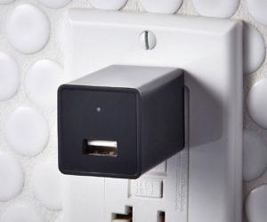 Hidden Camera USB Wall Charger