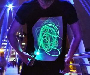 Interactive UV Light Shirts
