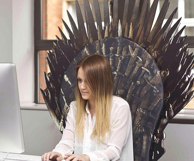 game of thrones office chair purple wingback iron throne backboard