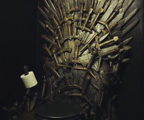 iron throne chair backboard small gaming toilet