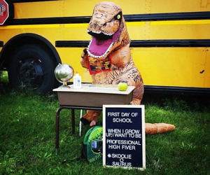 Kid's Inflatable T-Rex Costume