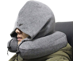 Memory Foam Neck Pillow With Hoodie