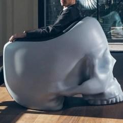 Skull Chair Oversized Beach With Umbrella