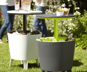 Outdoor Pull Up Table Cooler