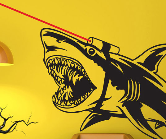 shark with frickin lasers