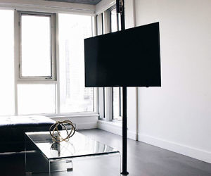 The Height Adjustable TV Pole Mount