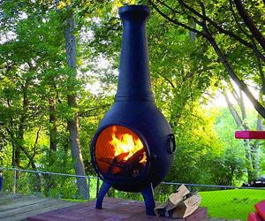 Cast Aluminum Wood Burning Fire Pit