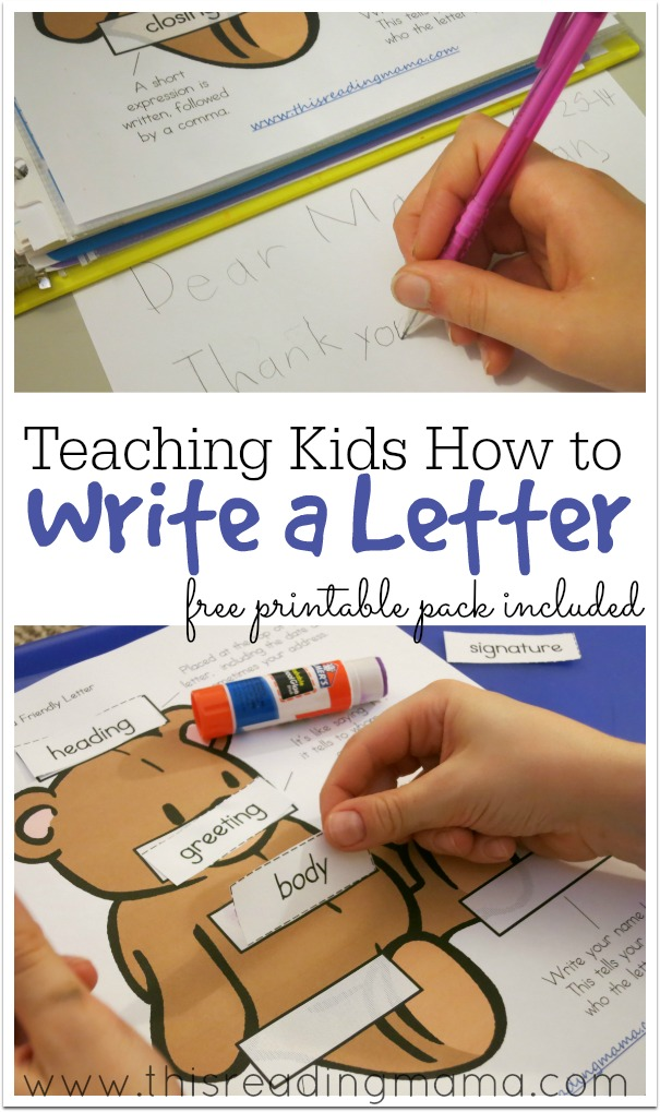 Teaching Kids How To Write A Letter