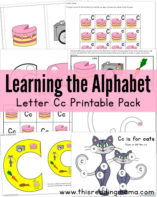 Learning The Alphabet Letter C Printable Pack