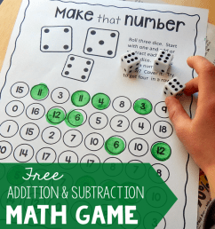 Addition and Subtraction Games - Roll and Race - This Reading Mama [ 1024 x 863 Pixel ]