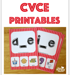 CVCe Printables - This Reading Mama [ 997 x 870 Pixel ]