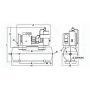 40D-D Sullivan-Palatek® D Series 40 Horsepower (hp) Motor