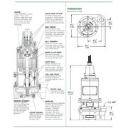 WG20-43-15 Standard 2 HP Submersible Grinder Pumps from