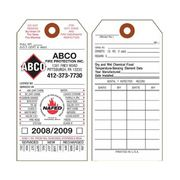 Fire Extinguisher Inspection Record Tags from Universal Tag