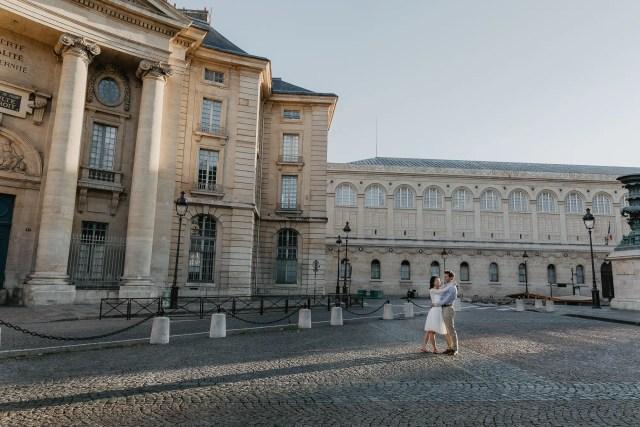 Pantheon Paris early morning