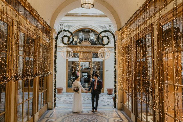 Winter wedding Paris photography galeries vivienne