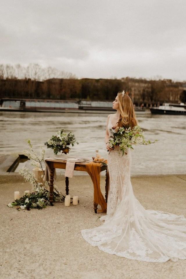 elopeement wedding paris ceremony seine river