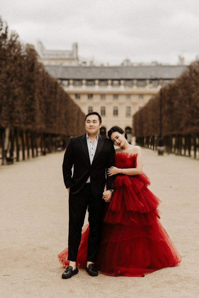 red wedding dress paris