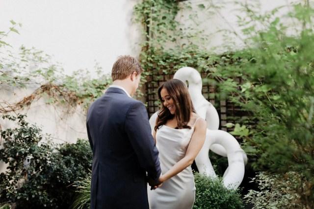 Paris elopement photographer first look