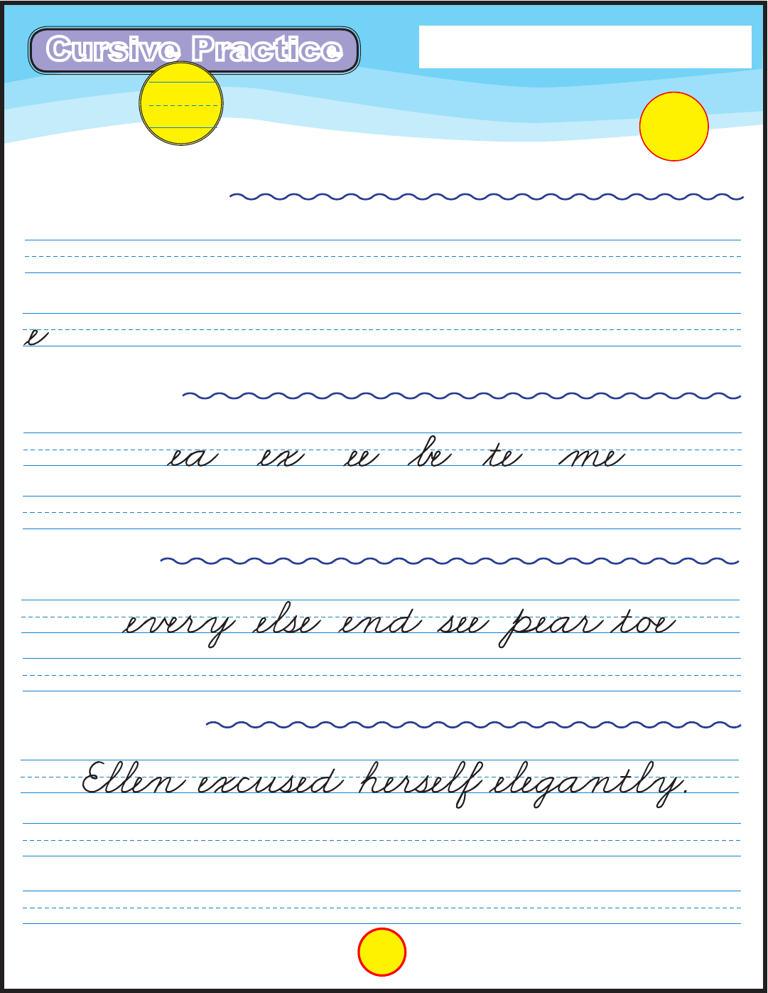 Download Cursive Writing Practice Template Example Format For Free Page 5