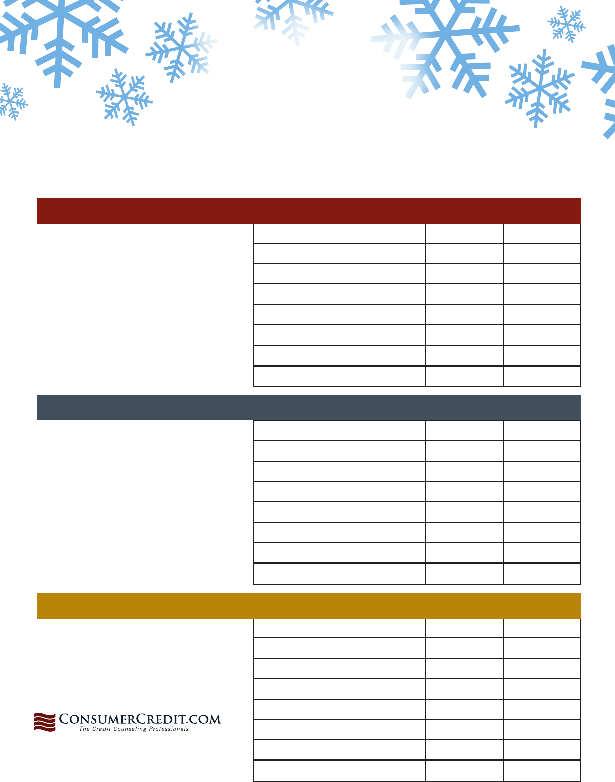 Download Holiday Budgeting Worksheet For Free