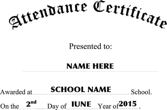 11+ Attendance Certificate Template Free Download