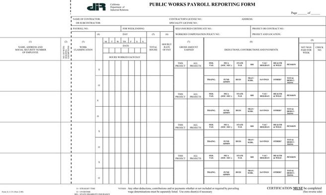 2+ Massachusetts Certified Payroll Form Free Download