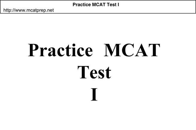 3+ MCAT Sample Questions Free Download