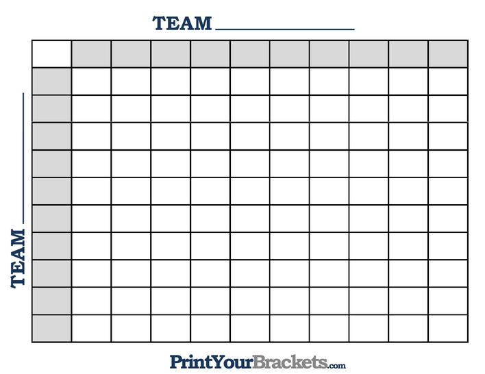 Download Printable Football Square Template Free in PDF