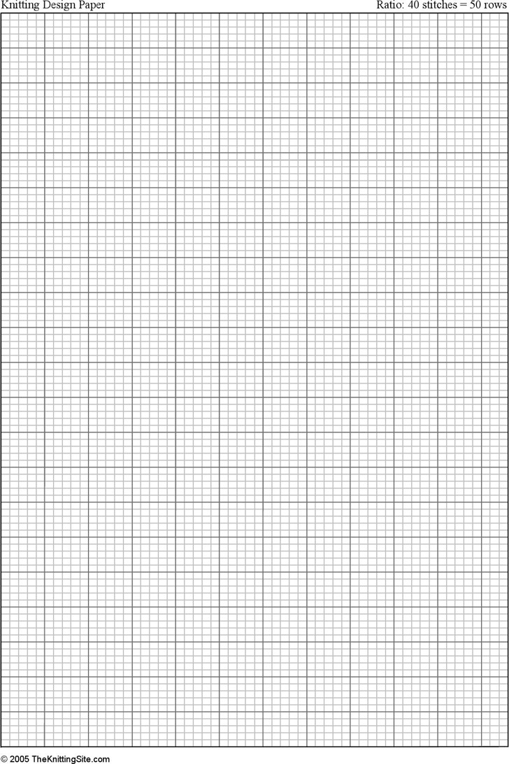 3+ Knitting Graph Paper Free Download