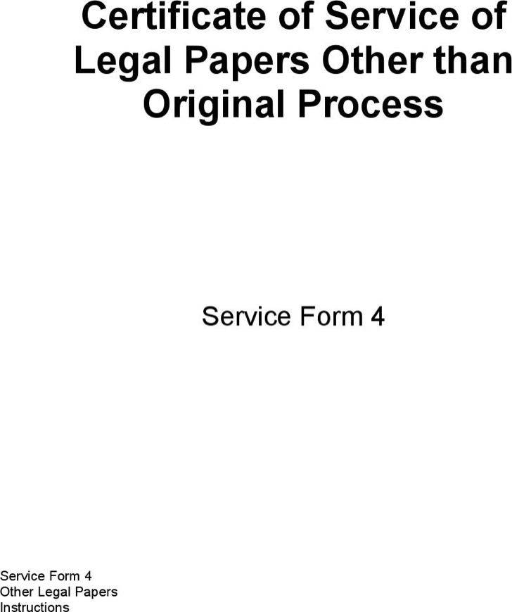 Download Certificate of Service Templates for Free