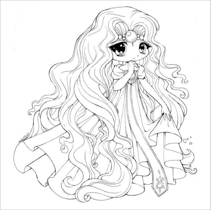 Download Printable Chibi Templates & Colouring Pages for