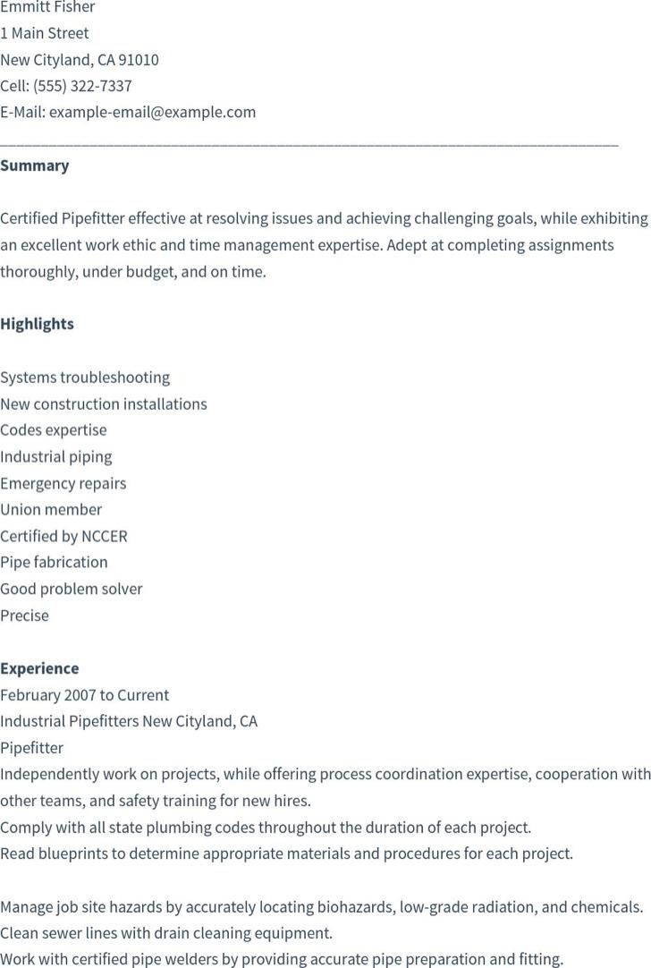construction helper resume free templates