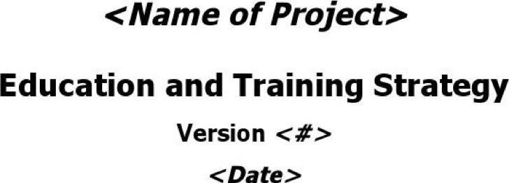 13+ Training Strategy Templates Free Download
