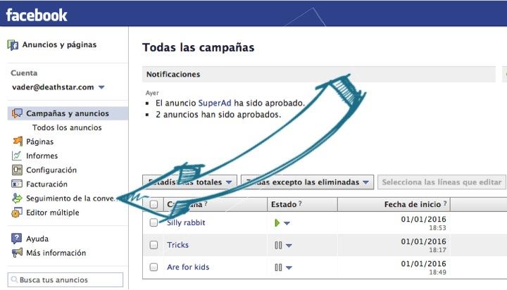 Seguimiento de Conversiones en el Administrador de Anuncios de Facebook
