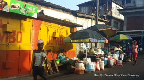 Street Corner in Freetown, Sierra Leone