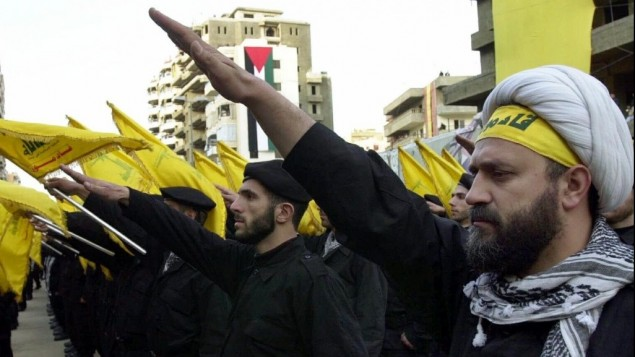Arab Nazis give the Hitler salute