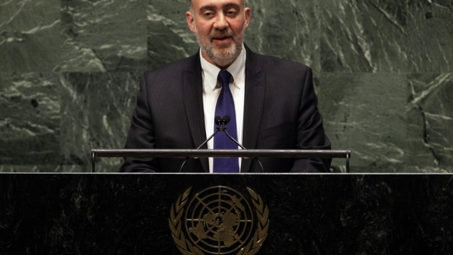 Ron Prosor gives speech to UN