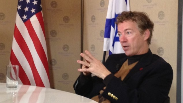 Sen. Rand Paul in Jerusalem, January 12, 2013