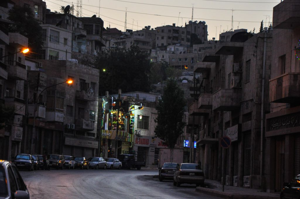 A desolate street in Amman before the lifting of the Ramadan fast (photo credit: Michal Shmulovich/Times of Israel)