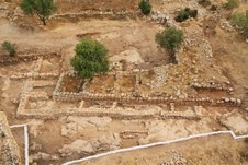 The remains of what Israeli archaeologists believe is King David's palace at Khirbet Qeiyafa (photo credit: Courtesy/ Israel Antiquities Authority)