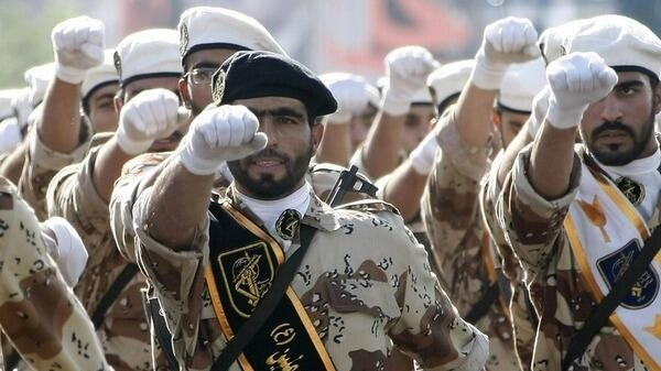 Iranian Revolutionary Guards (photo credit: @MidEastNews_Eng via Twitter/File)