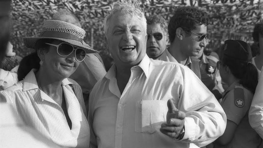 Ariel Sharon and wife Lily at an Israeli Air Force event (Photo credit: Baruch Rimon/GPO)