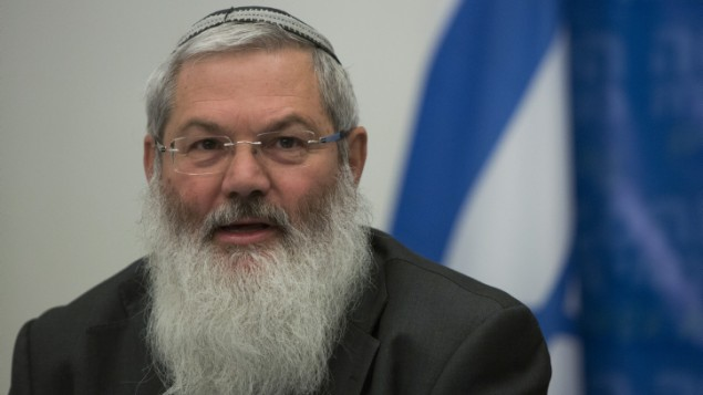 Deputy Minister of Religious Affairs, Rabbi Eli Ben-Dahan  February 3, 2014. (photo credit: Yonatan Sindel/Flash90)