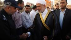 Ismael Haniyeh, au milieu d'une foule à Gaza (Crédit : Flash 90)